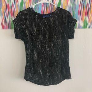 🦋 3/$15 Apt.9 black and white blouse -XS